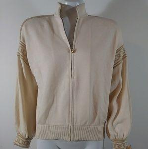 St. John Vintage knit zipup sweater jacket cardi